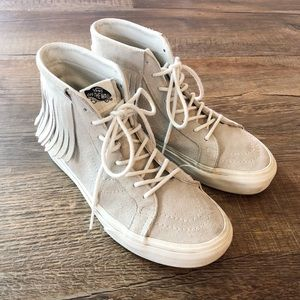 VANS Suede Moccasin Style High Top Shoes Size 7